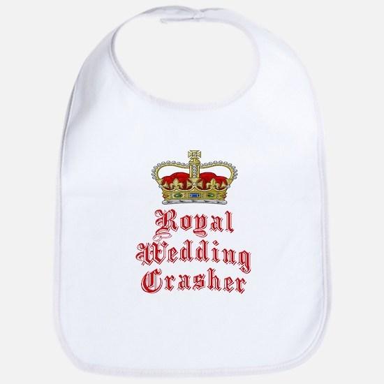 Royal Wedding Crasher Bib