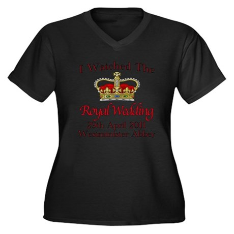 I Watched The Royal Wedding Women's Plus Size V-Ne