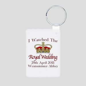 I Watched The Royal Wedding Aluminum Photo Keychai