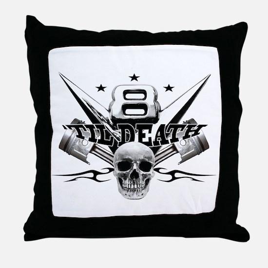 V8 'til death Throw Pillow