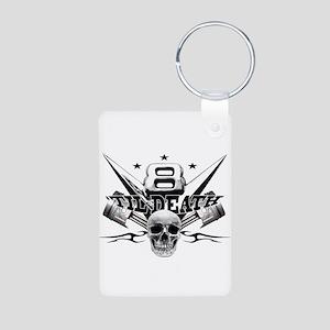 V8 'til death Aluminum Photo Keychain