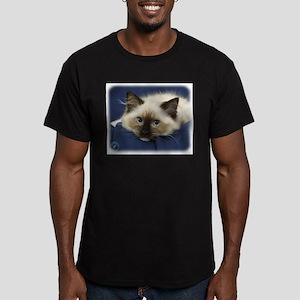 Ragdoll Cat 9W082D-020 Men's Fitted T-Shirt (dark)