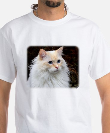 Ragdoll Cat 9W082D-020 White T-Shirt