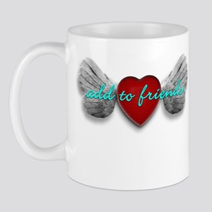 ADD TO FRIENDS, HEART WITH WINGS Mug