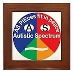 Autism Symbol Framed Tile