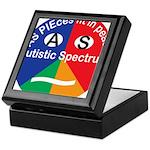 Autism symbol Keepsake Box