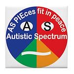 Autism Symbol Tile Coaster