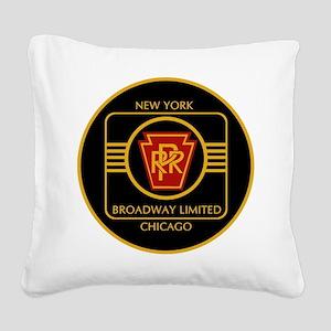 Pennsylvania Railroad, Broadw Square Canvas Pillow