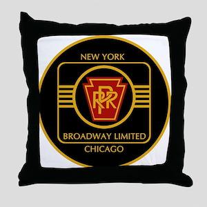Pennsylvania Railroad, Broadway limit Throw Pillow