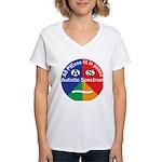 Autism symbol Women's V-Neck T-Shirt