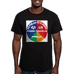 Autism symbol Men's Fitted T-Shirt (dark)