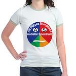 Autism symbol Jr. Ringer T-Shirt