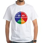 Autism symbol White T-Shirt