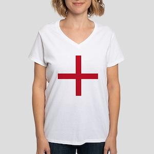England St George's Cross Flag Women's V-Neck T-Sh