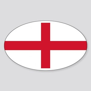 England St George's Cross Flag Sticker (Oval)