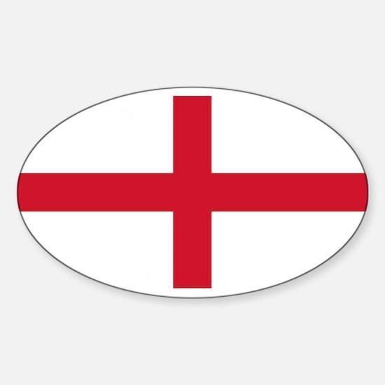 England St George's Cross Flag Sticker (Oval)