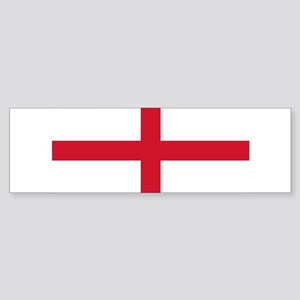 England St George's Cross Flag Sticker (Bumper)