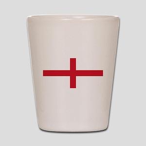 England St George's Cross Flag Shot Glass