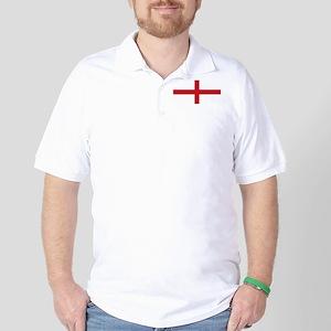 England St George's Cross Flag Golf Shirt