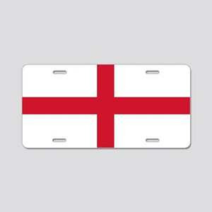 England St George's Cross Flag Aluminum License Pl