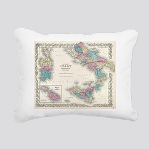Vintage Map of Southern Rectangular Canvas Pillow