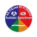 "Autism symbol 3.5"" Button (100 pack)"