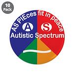 "Autism Symbol 3.5"" Button (10 Pack)"