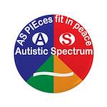 Autism Symbol Button