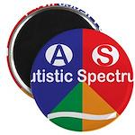 """Autism symbol 2.25"""" Magnet (100 pack)"""