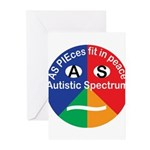 Autism symbol Greeting Cards (Pk of 20)