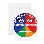 Autism symbol Greeting Cards (Pk of 10)