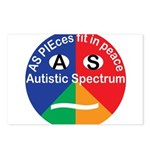 Autism symbol Postcards (Package of 8)