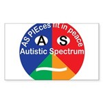 Autism symbol Sticker (Rectangle 50 pk)