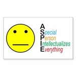 Autism symbol Sticker (Rectangle 10 pk)