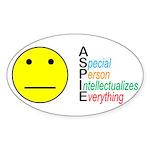 Autism symbol Sticker (Oval)