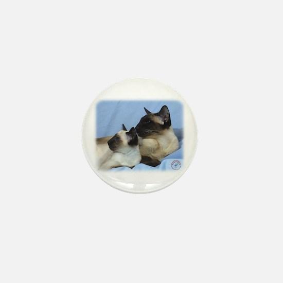 Siamese Cat 9W055D-049 Mini Button