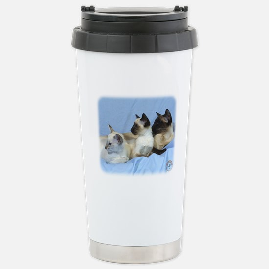 Siamese Cat 9W055D-074 Stainless Steel Travel Mug
