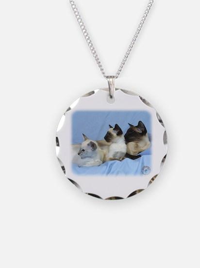 Siamese Cat 9W055D-074 Necklace