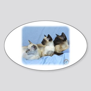 Siamese Cat 9W055D-074 Sticker (Oval)