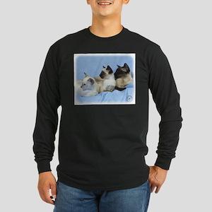 Siamese Cat 9W055D-074 Long Sleeve Dark T-Shirt