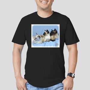 Siamese Cat 9W055D-074 Men's Fitted T-Shirt (dark)