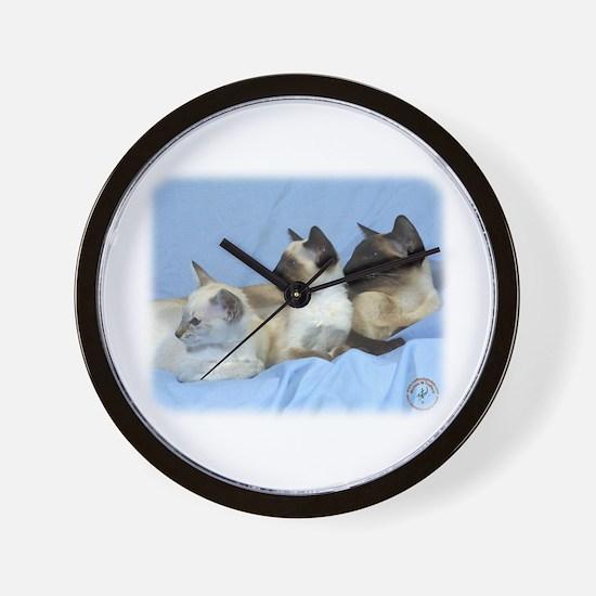 Siamese Cat 9W055D-074 Wall Clock