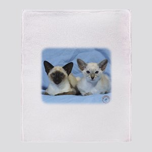 Siamese Cat 9W055D-100 Throw Blanket