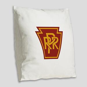PRR 1 Burlap Throw Pillow
