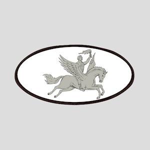 Bellerophon Riding Pegasus Holding Torch Drawing P