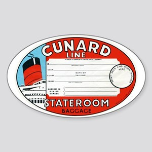Cunard luggage tag Sticker