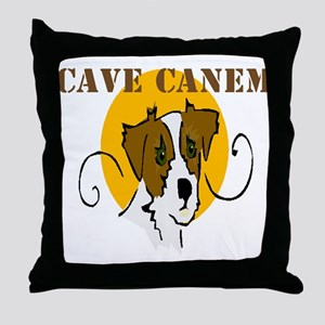 Cave Canem (Jack Russell) Throw Pillow