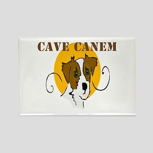 Cave Canem (Jack Russell) Rectangle Magnet (10 pk)