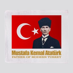 Ataturk Throw Blanket