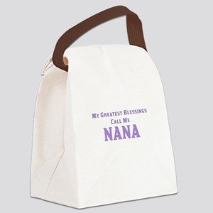My Greatest Blessings Call Me Nan Canvas Lunch Bag
